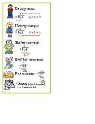 division steps worksheet one steps multiplication division word