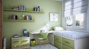 color designs for bedrooms with simple single bed with soft green