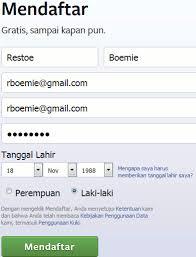 cara membuat akun gmail untuk facebook daftar facebook baru cara membuat akun fb di pc hp daftar cara
