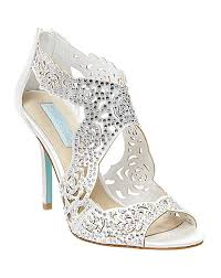 betsey johnson blue wedding shoes blue by betsey johnson sb livie ivory wedding shoes photo shoes