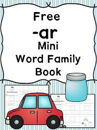 ar cvc word family worksheets make an ar word family book