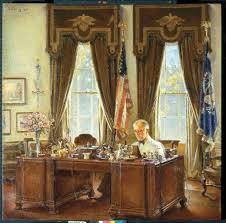 White House Oval Office Desk Franklin D Roosevelt At His Desk In The Oval Office White House