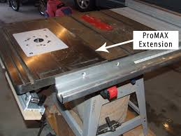dewalt table saw extension bench dog promax cast iron router table extension product review