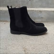 womens boots h m 55 h m boots h m velvet chelsea boots from alma s closet on