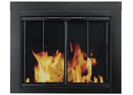 pleasant hearth ascot fireplace screen and bi fold track free