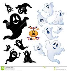 set of halloween ghost ghost silhouette royalty free stock photos