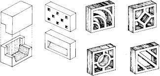 mid century decorative concrete screen block modern design by
