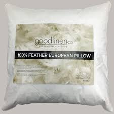 100 feather european pillow 65x65cm by good linen co commercial