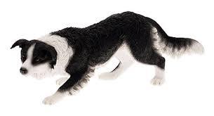 leonardo collection border collie ornament black