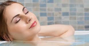 Bathing A Baby In A Bathtub Detox Bath With Natural Salts To Draw Out Toxins From Your Body