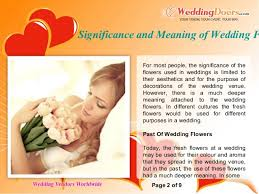 wedding flowers meaning significance and meaning of wedding flowers
