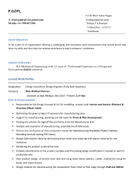 Career Objective For Resume Mechanical Engineer Gopi Resume Dtb 1