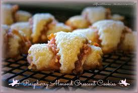 raspberry almond crescent cookies cookies pinterest crescent