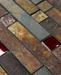 gold slate burgundy glass mosaic backsplash tile backsplash com