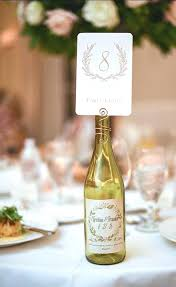 gold wine bottle table numbers table number holder wine bottle table number holder wedding decor