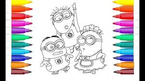 despicable me 3 agnes with a minion coloring pages l coloring for