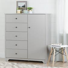 Armoire Drawers South Shore Vito Soft Gray Armoire 10234 The Home Depot