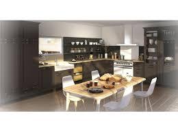 magasin cuisine rouen cuisine en forme de l avec table de repas cuisine couleur taupe en