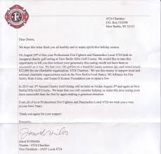 charity donation letter thank you community outreach2 hal s harley davidson new berlin wisconsin donation to professional fire fighters paramedics local 4724 golf outing august 24 2012