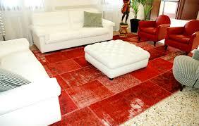 tappeto moderno rosso tappeti su misura collezione vintage