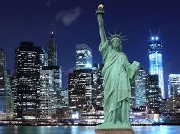new york statue of liberty skyline wallpaper