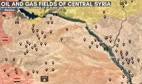 map of syria new map of and gas fields in central syria with