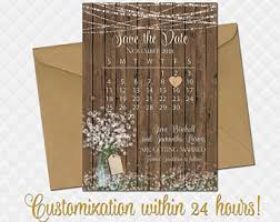 rustic save the date cards rustic save the date etsy