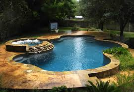 Fabulous Swimming Pool With Spa Designs Home Design Lover - Backyard spa designs