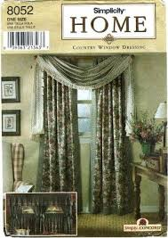 amazon com simplicity 8052 home decor sewing pattern window