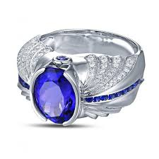 blue man rings images Police style blue stone jewelry rings for men sterling silver jpg