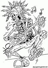 grim reaper skull drawings coloring pages free printable skull