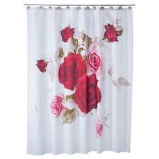 Red White Shower Curtain Botanical Shower Curtains U0026 Liners Target