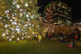 boston tree lighting 2017 boston seaport seaport common free events and community green space