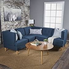 kitchen sectional sofas contemporary dining chairs furniture milltown 5pc mid century tufted modular sectional sofa