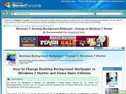bureau windows 7 sur windows 8 1 comment changer le fond d écran du bureau sur windows 7 starter