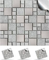 Stick On Wall 18 Grey Speckle Mix Effect Wall Tiles 2mm Thick And Solid Self
