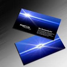 blue card technology business card it card electronic business