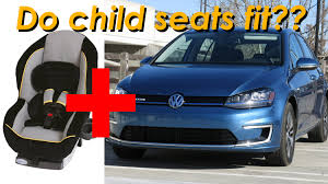 2015 volkswagen golf and egolf child seat review in 4k youtube