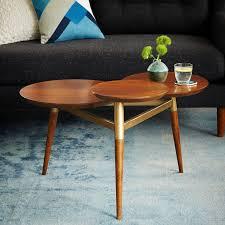 Brass Coffee Table Legs Clover Coffee Table Walnut Antique Brass West Elm