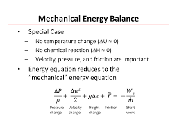 mechanical energy balance chemical process principles lecture