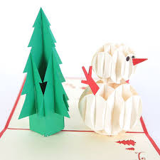 aliexpress com buy 3d christmas tree u0026 snowman handmade creative