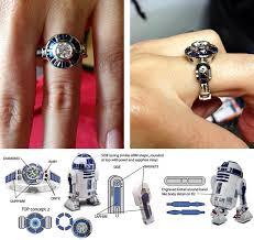 r2d2 wedding ring wars custom r2 d2 engagement ring marriage r2 d2