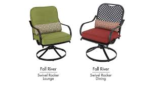 At Home Patio Furniture Hampton Bay Fall River Swivel Dining Lounge Chairs Sold At Home