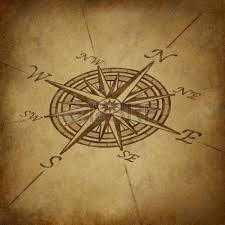 Nautical Map Tattoo Grunge World Map Background With Rose Compass Stock Photo Picture