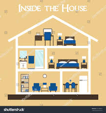 house house interior inside house house stock illustration