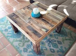 Storage End Tables For Living Room Square Reclaimed Recycled Wood Coffee Table Living Room Accent