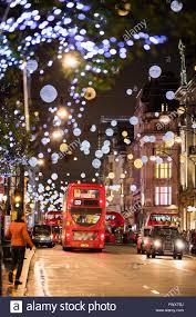 Christmas Decorations Oxford Street - uk england london oxford street christmas decorations at night