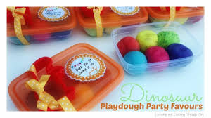 party favours learning and exploring through play dinosaur playdough party favours