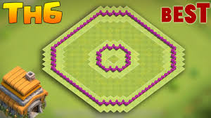 coc map layout th6 clash of clans town hall 6 defense coc th6 best hybrid trophy