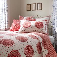 bedroom design covering your bed with wonderful bedding by john lovely john robshaw bedding in red and white with floral pattern plus pillows before the white